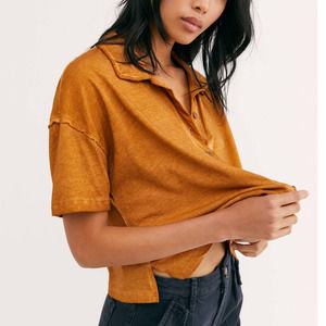 Free People Weekend Rush Soft Knit Top Copper M
